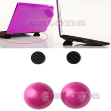 2PCS Laptop Notebook Antiskid Cooling Cooler Stand Ball Leg Skidproof Pad Hot Pink C26(China)