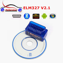 2017 Top Selling Super MiniI ELM327 Bluetooth OBD2 V2.1 Smart Car Diagnostic Interface ELM 327 Wireless Scan Tool