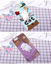 For OPPO Find Mirror R819 819T Case Squishy Finger Pinch 3D Cute Cat Seal Silicone Phone Cover Shell For OPPO JOY 3 A11W Case