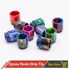 Volcanee 2pcs/lot Epoxy Resin 810 Drip Tip TFV8 Wide Bore Dual O Rings for TFV12 Goon RDA Griffin Colorful Mouthpiece