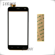 Syrinx With Sticker Moible Phone Touch Panel For Homtom HT3 HT3 PRO Touch Screen Digitizer Front Glass Lens Touchscreen Sensor(China)