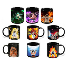Anime Coffee Mug Color Change Cup Ceramic Cups and Mugs Dragon Ball One Pieces(China)