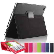 Axbety Leather Case For ipad 3 Case Soft Matte Litchi Skin Leather Cover Auto Sleep Wake Up For iPad 2 3 4 Magnetic Flip Protect