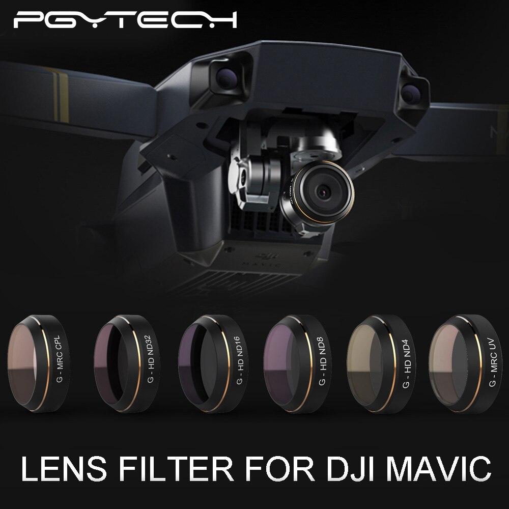 PGYTECH DJI MAVIC Pro Accessories Lens Filters G-UV ND4 8 16 32 CPL UV HD gradual color Filter Drone gimbal RC Quadcopter parts <br><br>Aliexpress