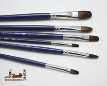 6pcs/Set,high quality Flower mink tongue peak acrylic brush birch rod oil painting brush artist Professional Art Supplies