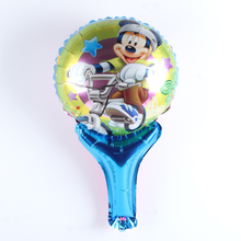 10pcs Wholesale Double-faceMickey&Minnie Hand held Balloon Aluminum Foil Balloons Party Decoration Balloons Celebration Supplies
