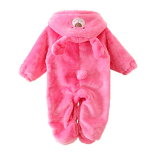 Buy Newborn Baby Romper Winter Coral Fleece Long Sleeve Hooded Velour Romper Cartoon Warm Jumpsuit Animal Baby Girl Boy Clothes for $12.85 in AliExpress store