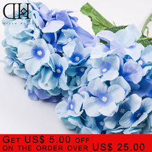 Luxury Artificial Hydrangea Flower home decoration flower Accessory for Party Home Wedding ornament  christmas decoration xmas