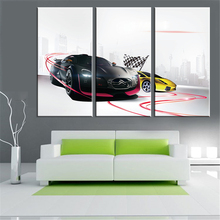Hot Modern Art Canvas Painting Car Picture Wall Picture HD A4 Art Printed and Poster Oil Painting Home Decoration No Frame 3pcs