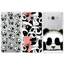 Panda Transparent Silicone For iPhone 5 5S SE 6 6S 7 Plus For Samsung Galaxy S4 S5 S6 S7 Edge S8 Plus J3 J5 A3 A5 2016 2017