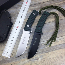 2 Options!!!Hunting knife Straight knife D2 fixed blade 60 HRC micarta handle fox FX-131 survival camping rescue knife