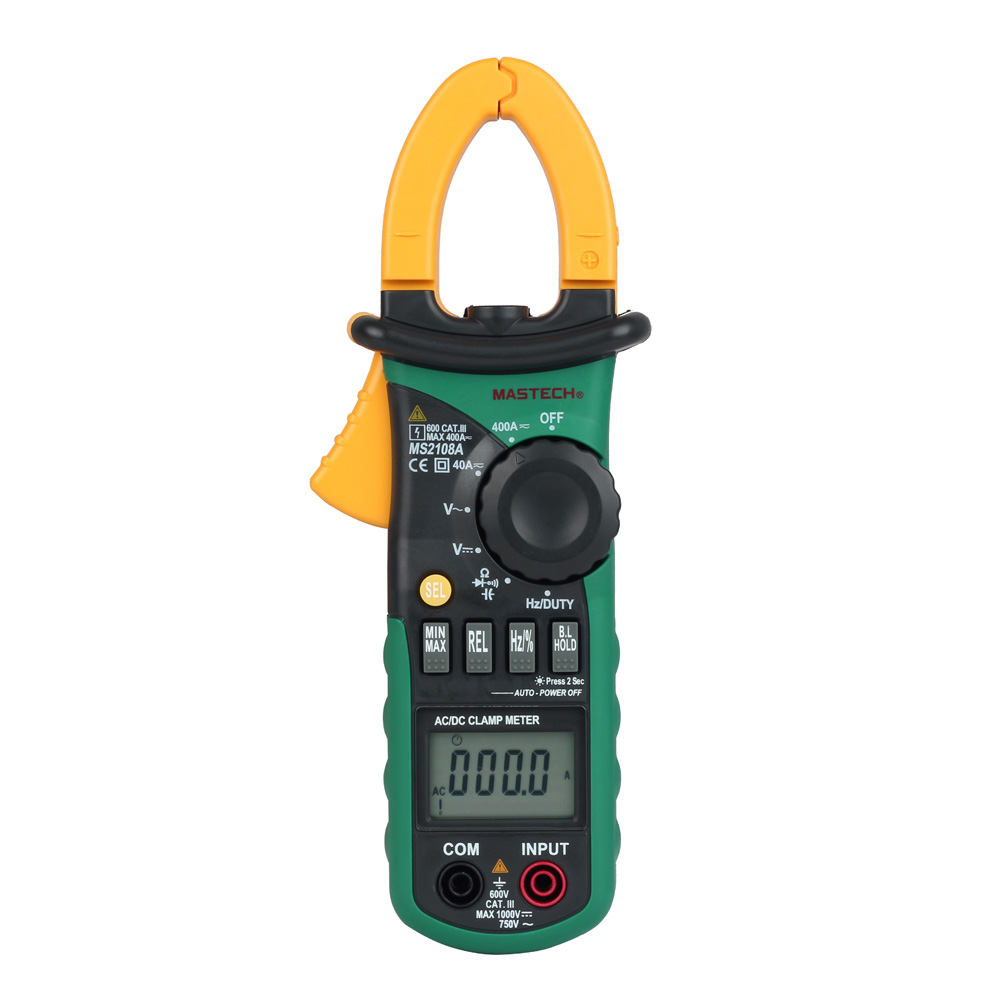 New Style MASTECH MS2108A Professional 4,000 points AC current DC Clamp Meter Digital Multimeter Ohm resistance backlight<br>