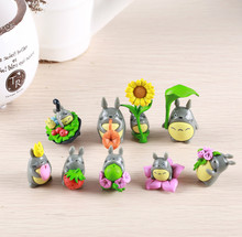 (9pcs/lot) My neighbor Totoro figure gifts doll resin miniature figurines Toys 5cm PVC plactic japanese cute lovely anime 151209