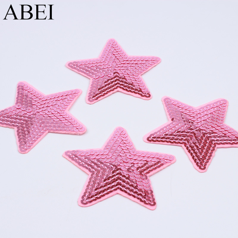 pentagram Sequins Embroidery Iron sew on patch applique DIY clothing 15cm FO