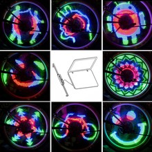 48 LED DIY Bicycle Wheel Light Colorful Version Programming Bike Wheel Spokes Lights Cycle Lamp Pattern For Night Riding YQ8002