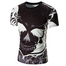 2017 New Short Sleeve 3D Print Skulls Men'S T-Shirt Fashion Crew Neck Top Tees Casual Mens Tee Shirt New Products Hot Sale(China)