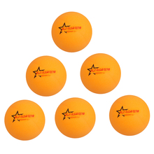 High Quality Pack of 6 Ping Pong Table Tennis Balls Beer Pong Balls Dia 40mm Yellow Plastic Professional Athletes Training Ball