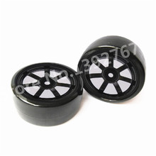 4Pcs/Set RC Drift Cars Tire 63mm*26mm Wheel Rim & Drift Tyre For 1/10 Scale Models RC Car Remote Control On Road Room Car Tires(China)