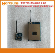 Free Ship TX6729+RX6788 2.4G remote wireless video module suit wireless audio and video transmission transceiver module(China)