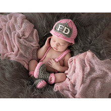 Crochet Pattern Baby Boy Girls Photo Props Firefighter Costume Set Newborn Hat Pants Diaper covered Trousers GM086