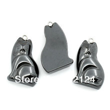 "50Pcs Gunmetal Fat Cat Hematite Pendants Jewelry Charms 3.2cmx2cm(1 2/8""x6/8"")"