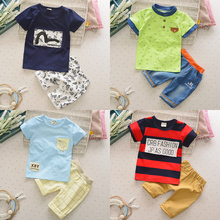 Kids Clothes Baby Boy Summer Clothes Set Top + Jeans Shorts Childrens Toddler Boy Clothing Set Baby Clothes for Boys