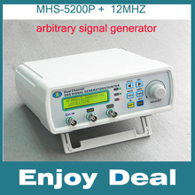 Digital Dual-channel DDS Signal Generator Arbitrary waveform generator Function signal generator MHS-5200P+ 12MHz Amplifier 5MHz