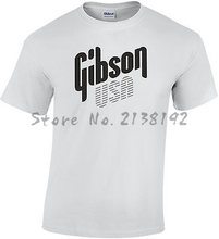 Gibson Usa Guitar Rock T-Shirt 100% Heavy Cotton Excellent Quality men's top tees(China)