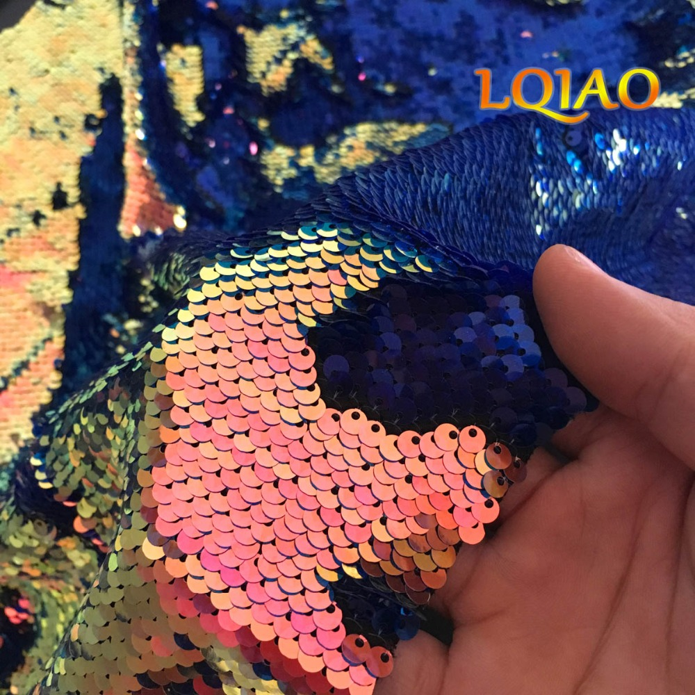 Fluorescence Gold Reversible Sequin Fabric 004