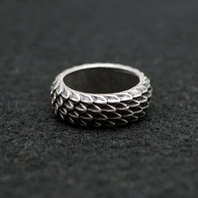 Buy 1pcs Viking Dragon Rings Jewelry Feather Ring Unique Dragonscale Rings Women Men Size 8 Antique Silver RG96 for $2.70 in AliExpress store