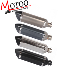 Buy Motoo 4 color Motorcycle 47CM Scooter Exhaust Muffler Pipe Modified stainless steel Exhaust Muffler Tail pipe DB Killer for $45.00 in AliExpress store