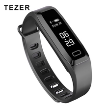 TEZER R6PRO Fitness bracelets Watch Heart rate Blood Pressure Oxygen Oximeter Sport  wrist band Watch intelligent  Alarm
