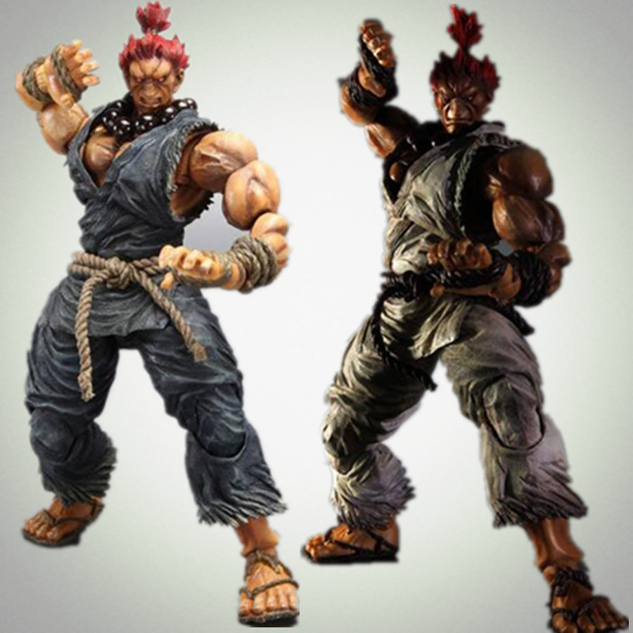 Street Fighter Action Figure Play Arts Kai Gouki Akuma 230MM Shouryuukenn Anime Street Fighter Toy Playarts Kai<br><br>Aliexpress