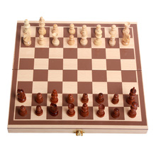 Foreign Trade Hot Foldable High-grade Wooden International Chess25x25x580 Mm(China)