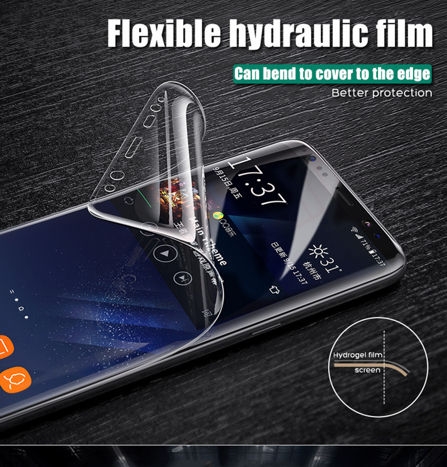 2-PC-For Samsung Galaxy S8 Screen Protective Edge Film For Samsung S9 Plus  Screen Protector