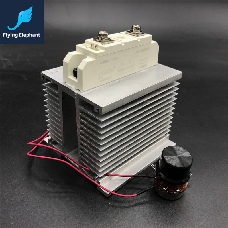 25000W SCR 200A Big Current 25kw Electronic Voltage Regulator AC220V Tempering Speed Governing<br>