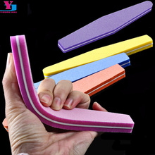 10 X Professional Nail Files Nail Buffer Buffing Slim Crescent 100/180 Nail Beauty Tools Diamond Spong Bloc Polissoir Ongles
