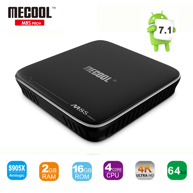 MECOOL M8S PRO+ TV Box Amlogic S905X Quad Core Android 7.1 2GB/16GB WiFi H.265 4K*2K Smart Media Player M8Spro+ Set-top Box