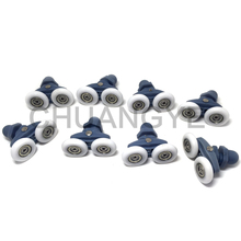 8 Shower Door ROLLERS / Runners / Pulleys / Wheels bathroom Replacement Parts 25mm(China)