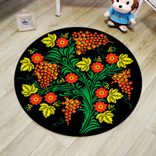 Europe Flower Round Rug 60/80/100/120/160CM alfombras dormitorio Carpet Living Room Deurmat rugs Swivel chair Mats tapis chambre