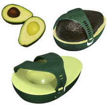 Green Avocado Stay Fresh Saver Leftover Half Food Holder Keeper Kitchen Gadget(China)