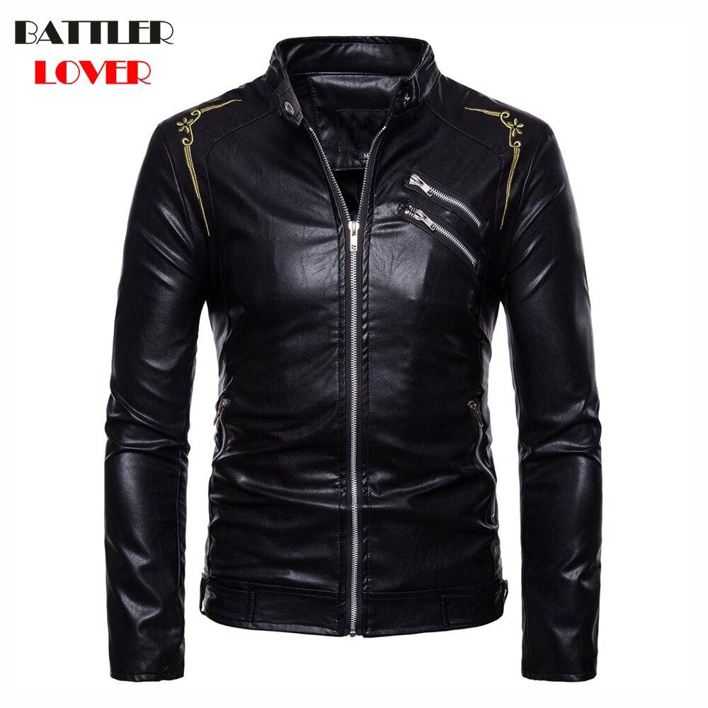 Mens Leather Coat Winter Faux Leather Warm Outwear Coats Men Biker Parkas Autumn Jackets Hombre Thick PU Overcoat Brand Clothing