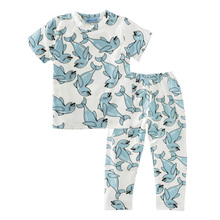 Baby boy clothing set summer 2017 dolphin baby girl clothing set short sleeve t shirt+pant 2pcs kids clothes set for little boys(China)