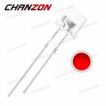 100pcs 5mm Flat Top Red LED Diode Transparent Ultra Bright 20mA DC 2V Wide Angle Clear Lens 5 mm Light Emitting Diode LED Lamp(China)