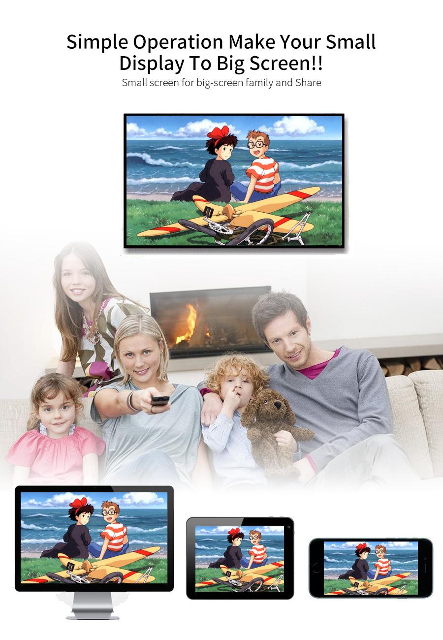 عرض لاسلكي من الهواتف الذكية الى التلفاز Mirascreen MX جديد 2
