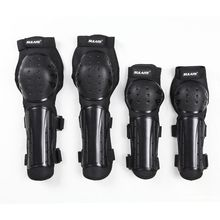 2017 New 4Pcs Kit of Elbow & Knee Bicycle Racing Knee Pads Shin Guards Protective Gear for Motorcycle Bikers Motocross Racing(China)
