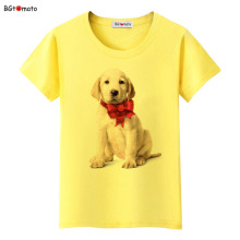 BGtomato lovely pet white dog 3D t shirt New style popular cute shirts for women Original brand soft casual tops cheap sale