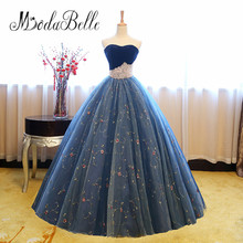 modabelle Princess Embroidery Flower Prom Dress With Pearls Sweetheart Ladies Ball Gown Robes De Soiree Long Party Evening Gowns(China)