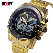 Electronic Sport Watch Top Brand Fashion Men's Watches LED Digital Full Stainless Steel Quartz Wristwatch Relogio Masculino(China)