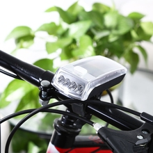 4-LED Solar Bike Head Light Front Bicycle Bike Torch Lamp Safety Rear Lights Water Resistant Shockproof Outdoor Equipment